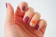 Fall and Fox nails Fox Nails, Baby Nails, Fall Nail Art Designs, Colorful Nail Designs, Cool Nail Art, Classy Nail Art, Cute Nails, Pretty Nails, Jolie Nail Art