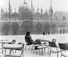 Piazza San Marco, Venice 1963 by Winston Vargas on Flickr. #Italy #winter
