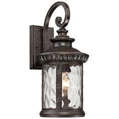 """Quoizel Chimera 9"""" Wide x19.5 H Imperial Bronze Outdoor Wall Light 197."""