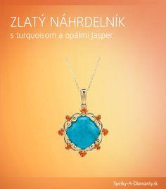 Vedeli ste, že opálom sa, rovnako ako diamantom, dá rezať sklo? A nádherne farebné a pevné opáliky v tomto prívesku príjemne kontrastujú s centrálnym tyrkysom, ktorý je zas považovaný za najúčinnejší liečivý kryštáľ.    Viac info o výrobku: http://www.sperky-a-diamanty.sk/sk/sperk/zlaty-nahrdelnik-s-turquoisom-a-opalmi-jasper/99019