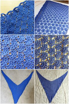 Mediterranean Lace Shawl - Left side is unblocked, Right side is blocked - Free Crochet Pattern from Make My Day Creative
