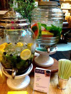 party ideas - serving lemon water