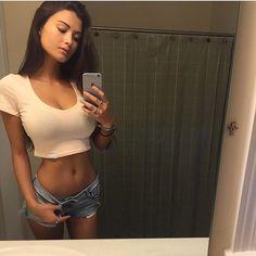 selfie by Keilah K wearing top & daisy dukes  #daisydukes #selfie