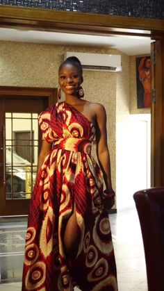 The Tiwa African Maxi Dress the one shoulder African Dress must have. One of Naborhi's African Fashion Dresses Best African Dresses, Latest African Fashion Dresses, African Attire, Nigerian Fashion, African Inspired Fashion, African Print Fashion, Africa Fashion, Fashion Men, Dress Fashion