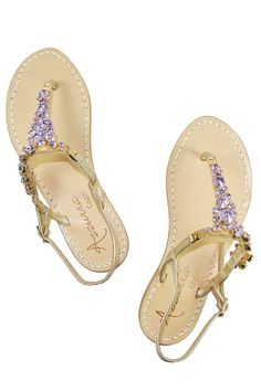 78a1e8a391318 MPANDJAP are obsessed with the beautiful shimmering Swarovski crystals on  this pair of handmade Italian leather sandals.
