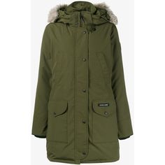 Canada Goose Canada Goose Fur Trimmed Parka (70.830 RUB) ❤ liked on Polyvore featuring outerwear, coats, green, green coat, canada goose, green parka coat, fur trimmed parka and fur trim coats