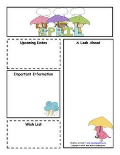 preschool newsletter templates
