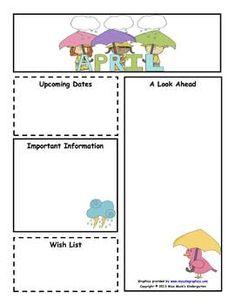 Customizable March Newsletter - Color & B   Classroom Organization ...