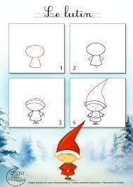 weihnachten zeichnen dessiner un lutin de Nol Christmas Doodles, Christmas Drawing, Noel Christmas, Whimsical Christmas, Elf Drawings, Doodle Drawings, Doodle Art, Christmas Activities, Christmas Projects