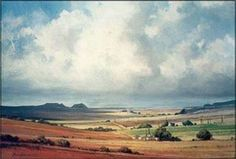 """Storm Clouds (near Fouriesburg)"" by John Smith, South African artist Orange Free State"