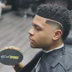 Curly Part FroHawk - Black Haircut Styles Black Haircut Styles, Black Boys Haircuts, Little Boy Haircuts, Cool Haircuts, Haircuts For Men, Mohawk Hairstyles Men, Black Men Hairstyles, Hair And Beard Styles, Curly Hair Styles