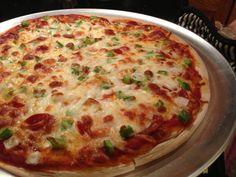 Healthy homemade pizza.
