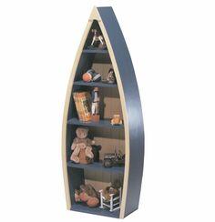 Home Goods Furniture boat book shelf | Rowing Boat Bookcase, Boat Shaped Bookcase, Toddler Bookshelf