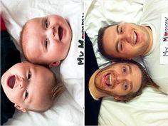 Cute/silly idea: re-create baby photos