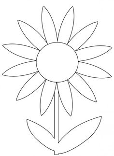 free printable easy flower coloring pages | Simple Flower Coloring Page - Cute Flower! | WhatMommyDoes ...