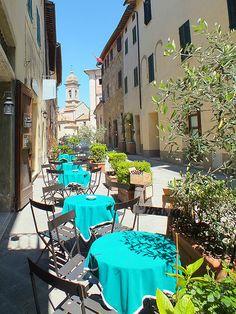 Café, San Quirico d´Orcia, Tuscany, Italy