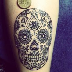 Sugar Skull Tattoo. But With Color! Y Pequeno
