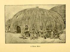 Zulu hut, South Africa, 1892.