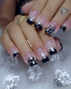 trendies nails art designs ideas for valentines day 1 Best Acrylic Nails, Cute Acrylic Nails, Cute Nails, Stylish Nails, Classy Nails, Simple Nails, Nail Art Designs, Colorful Nail Designs, Rhinestone Nails