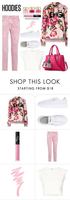 """""""Hoodies"""" by misshonee ❤ liked on Polyvore featuring Dolce&Gabbana, Puma, NARS Cosmetics, Étoile Isabel Marant, Victoria's Secret and Hoodies"""