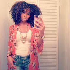 Kara // 3C Natural Hair Style Icon | Black Girl with Long Hair