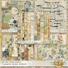 Art and Style Bundle Art and Style Bundle includes 5 brand new products #artandstyle #artjournal #dawninskip #scrapbookgraphics #stitches #paper #stamps