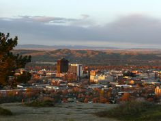 Sunrise over downtown Billings, MT <3 Montana