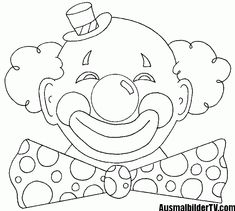 Clown Mask Coloring Pages - Coloring Pages Free Printable Coloring Pages, Coloring Book Pages, Coloring Pages For Kids, Learning Disabilities In Children, Scrapbook Patterns, Clown Mask, Clown Faces, Circus Clown, Create Invitations