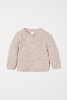 Textured-knit Cardigan - My Kindermode 2019 Vest Outfits, Baby Outfits Newborn, Toddler Outfits, Kids Outfits, Newborn Clothing, Baby Girl Fashion, Fashion Kids, Toddler Fashion, Fashion Clothes