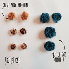 orecchini crochet #happiies