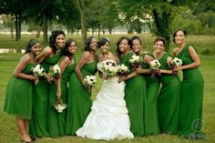 Nigerian Flag Wedding Pose