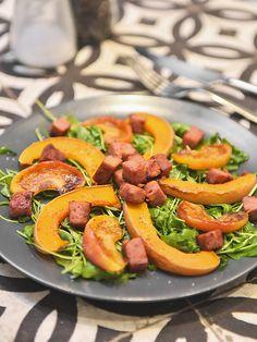 Les petites douceurs de Cricri - Recette Salade tiède de courge et de ballotine grillée