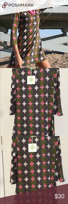 Brooke Rood Geometric Print Tunic Top Dress Brand New With Tags Brooke Rood Geometric Print Tunic Top Dress!!! From famous designer Brooke Rood The dress is SO versatile! Light and airy for summer! Perfect as a swim cover up! Can be paired with leggings or jeans! Made of 95% Rayon and 5% Pandex Size Small but has stretch to it Brooke Rood Dresses