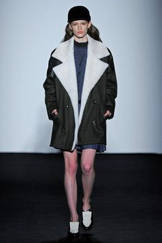 Timo Weiland | Shearling lined, hat.