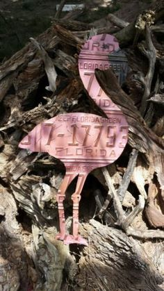 License Plate Art Pink Flamingo Florida Pool Cabana Beach House Tropical   eBay