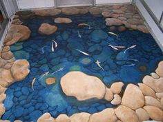 3D Floor Murals: 10 Incredible Optical Illusion Designs - I want this in my bathroom