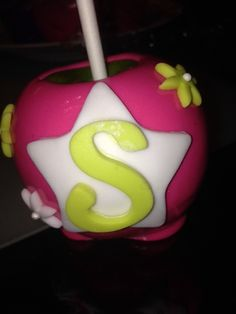 Custom candy apple in neon colors!