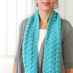 Whip up a colorful and warm infinity scarf with this free crochet pattern.