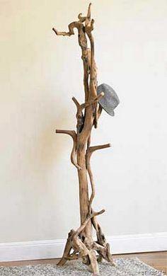 Driftwood hat rack