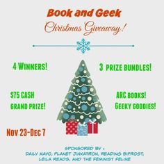Gift Guide for Book Lovers and a $75 Cash Giveaway plus 3 Other Prizes!