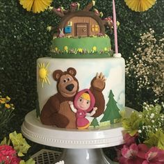 Masha and the bear cake/ bolo Masha e o Urso
