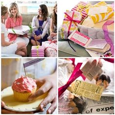 love the idea of a good advice shower (Advice: Celebrate every day. Gift: Champagne flutes or a beautiful cake plate. Advice: Take turns cooking for each other. Gift: Favorite cookbook and kitchen tools. Advice: Experience new things. Gift: Travel accessories.)