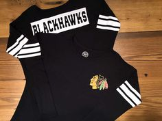 This shirt is perfect for those chilly Chicago nights! Ladies 47 Brand Long Sleeve, $60 #BlackhawksStore