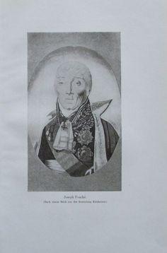JOSEPH FOUCHE 1914 Porträt Sammlung Kircheisen alter Druck antique Print Litho