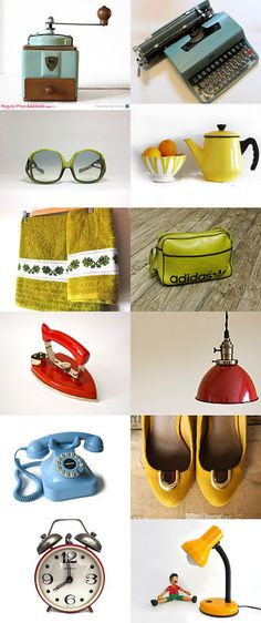 Many vintage design items and not only...4 colours 4 you by Conny Massa on Etsy--Pinned with TreasuryPin.com