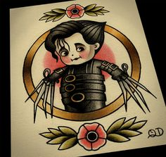 8x10 Kewpie Edward Tattoo Flash