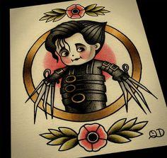 8x10 Kewpie Edward Tattoo Flash