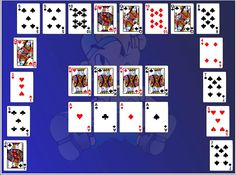 Move all of the cards from the outer piles onto the central foundation areas & win Half Moon Solitaire. Assemble in either ascending or descending order as long as the cards are in a consecutive order.