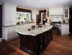 White Kitchen Dark Island white kitchen cabinets with white countertops. 17 best ideas about