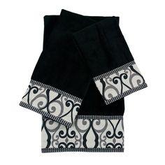 Sherry Kline Abingdon 3-piece Decorative Embellished Towel Set